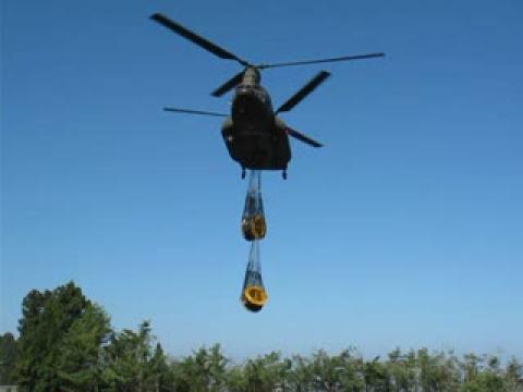 2009.08.27陸軍雙螺旋槳直昇機執行第二次吊掛電纜任務